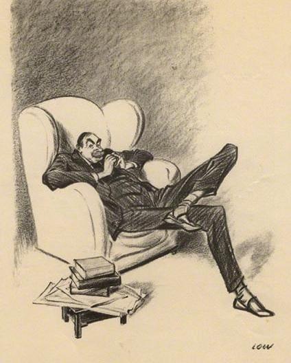 Карикатурный потрет Дж. М. Кейнса, 1934 год