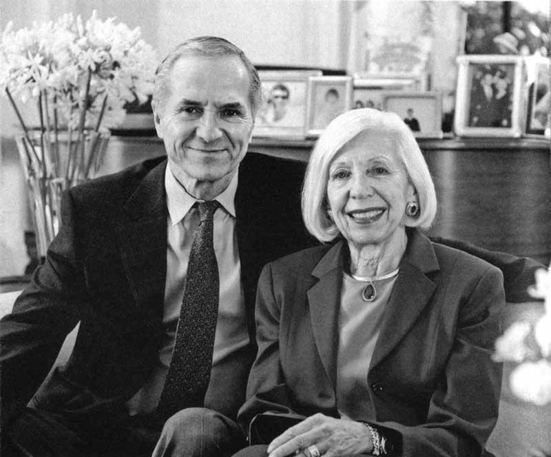 Эдвард Торп с женой Вивиан, 2004 год