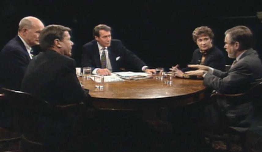 Эбби Джозеф-Коэн в программе Чарли Роуза на PBS,1992 год