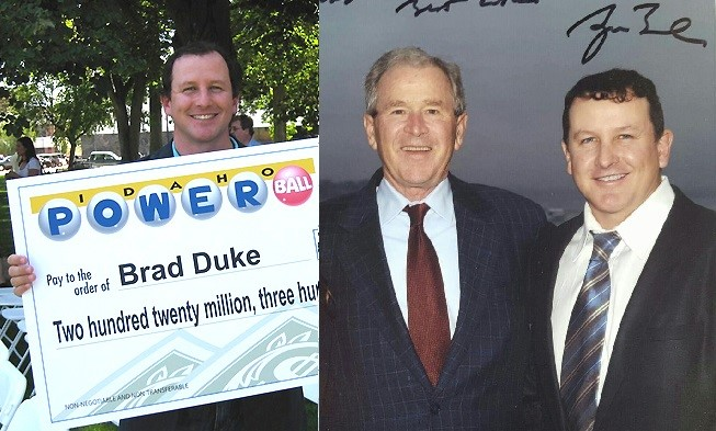Брэд Дюк в 2005 и 2015 году