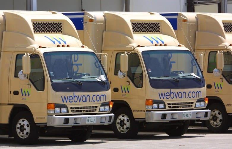Только на закупку грузовиков Webvan потратила около миллиарда долларов