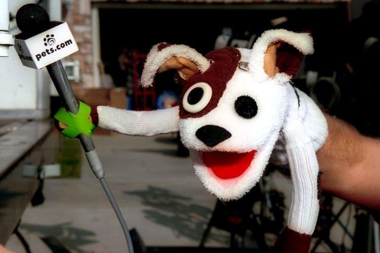 Игрушечная собачка из рекламы Pets.com стала символом пузыря доткомов