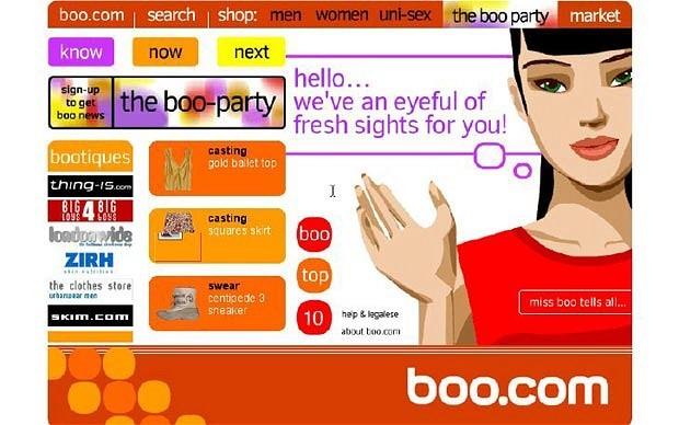 Сайт Boo.com намного опередил своё время