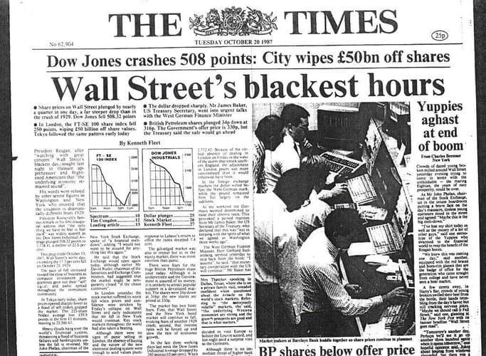 Рис. 3. Выпуск британской газеты The Time за 20 октября 1987 года