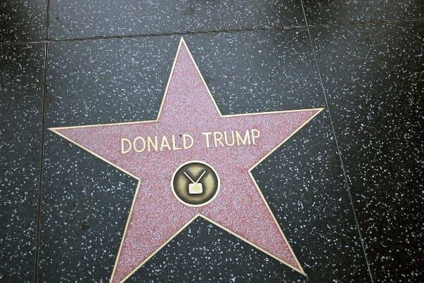 Звезда Дональда Трампа на Аллее славы в Голливуде