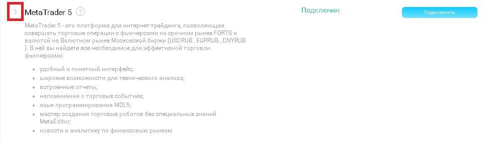 Рис. 2. Список подключённых терминалов
