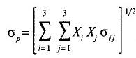 Формула 1 — стандартное отклонение портфеля ценных бумаг (риск инвестиционного портфеля)