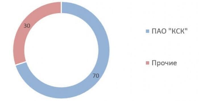 Источник: годовой отчёт ПАО «КСК» за 2019 год