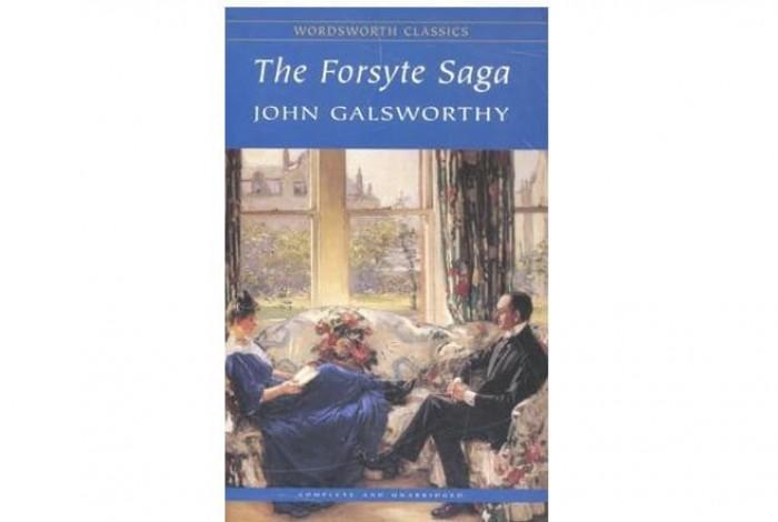 Обложка англоязычного издания романа Джона Голсуорси «Сага о Форсайтах»