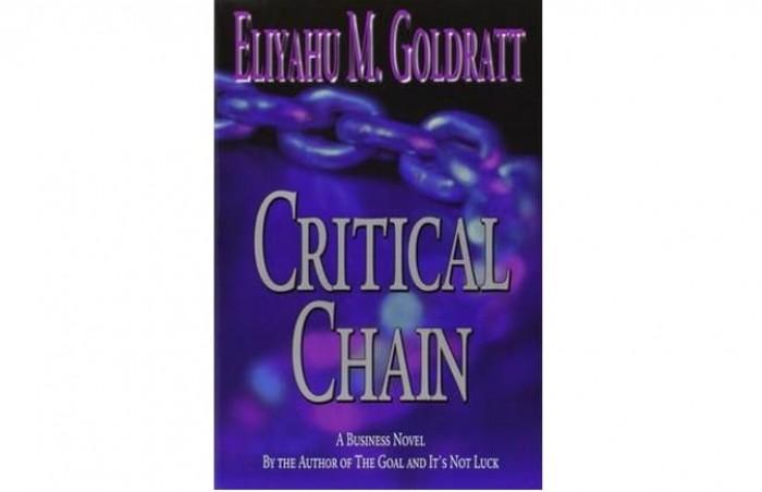 Обложка англоязычного издания романа Элияху Голдратта «Критическая цепь»