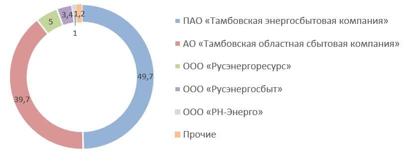 Рис. 3. Источник: квартальный отчёт ПАО «Тамбовская энергосбытовая компания» за 4 кв. 2020 г.