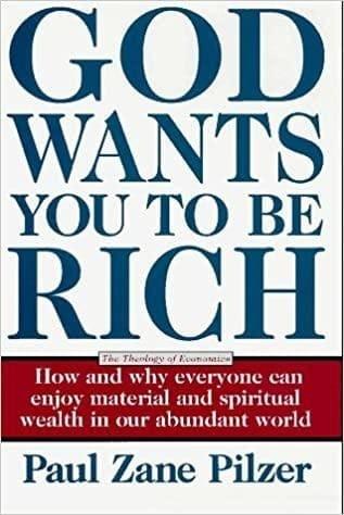 Обложка англоязычного издания книги «Господь хочет, чтобы вы были богаты. Теология экономики»