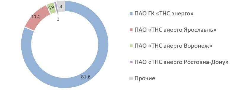 Рис. 9. Источник: список аффилированных лиц ПАО «ТНС энерго Нижний Новгород» на 31.12.2020 г.