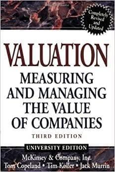 Обложка англоязычного издания книги «Стоимость компаний. Оценка и управление»