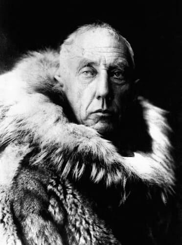Рис. 1. Руаль Амундсен в полярной экипировке
