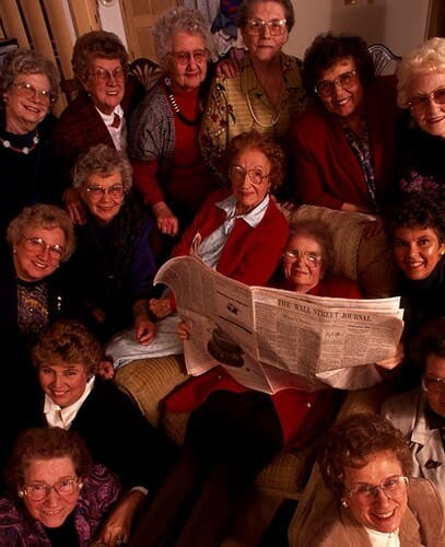 Рис. 2. Члены клуба Beardstown Ladies, 2000 г.