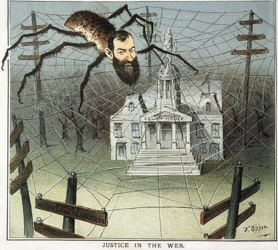 Рис. 2. Карикатура на Джея Гулда