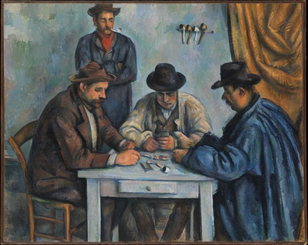 Рис. 3. «Игроки в карты», Поль Сезанн. Источник: wikipedia.org