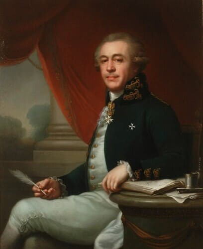 Рис. 2. Лампи Иоганн Баптист старший, «Портрет Ивана Лазаревича Лазарева», 1790 г.