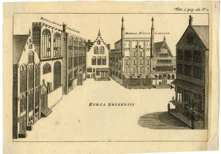 Рис. 3. Биржа в Брюгге. Бельгия, XV в.