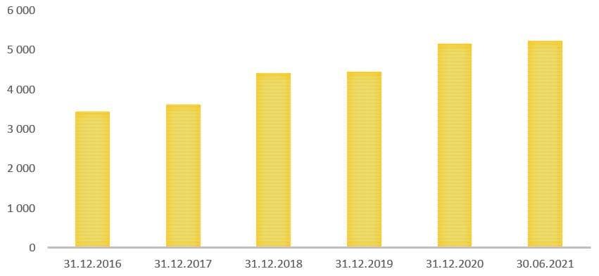 Рис. 5. Источник: финансовая отчётность ПАО «Сургутнефтегаз»