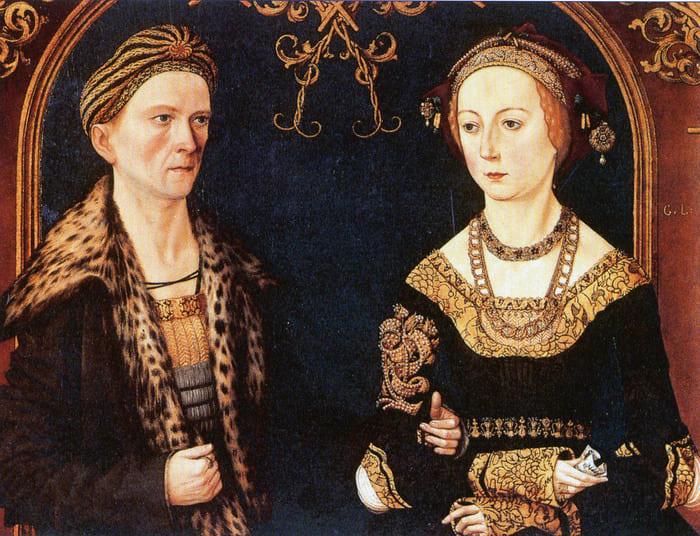 Якоб Фуггер с супругой, портрет около 1500 года. Изображение с сайта wikipedia.org