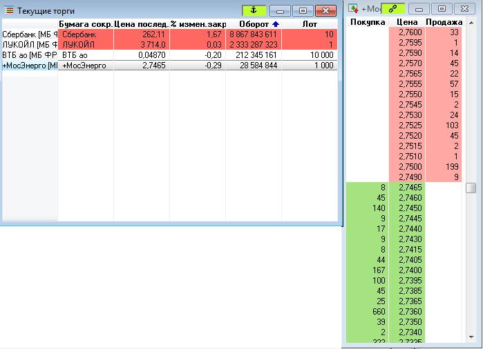 Рис. 7. QUIK 7: настройка терминала для торговли акциями
