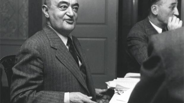 Йозеф Шумпетер в Гарварде, 1945 г.