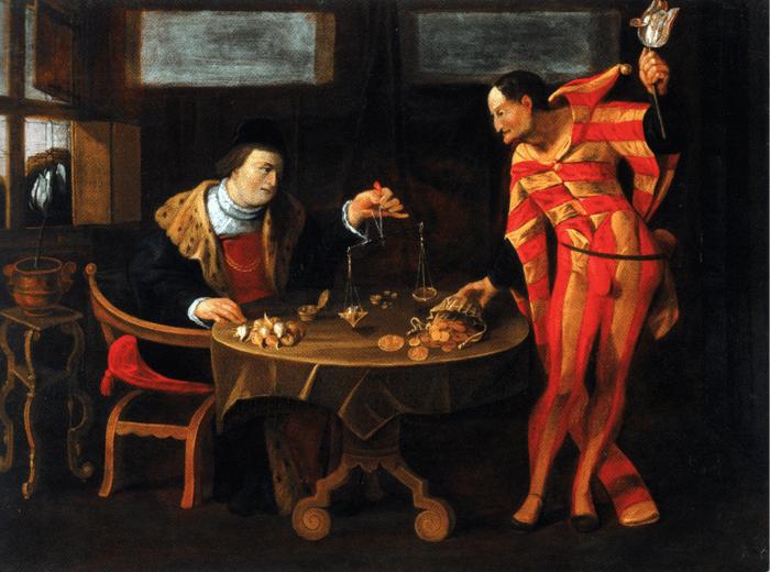 «Торговец тюльпанами», неизвестный художник, 1650 год. Изображение с сайта wikipedia.org