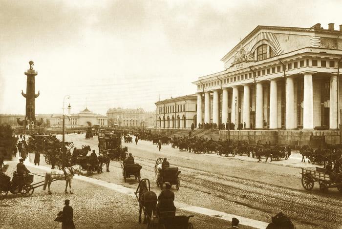 Санкт-Петербургская биржа, 1903 год. Изображение из собрания автора.