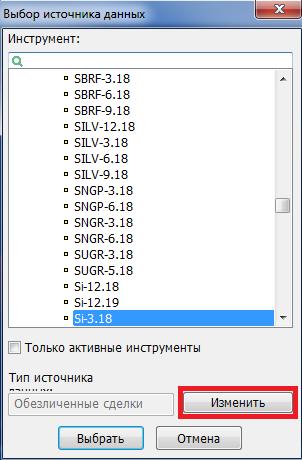 Рис. 2. QUIK 7: график открытых позиций