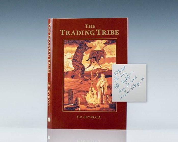 Эдвард Сейкота, «Торговое племя». Книга и автограф автора. Фото с сайта raptisrarebooks.com