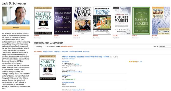 Страница Джека Швагера на сайте amazon.com