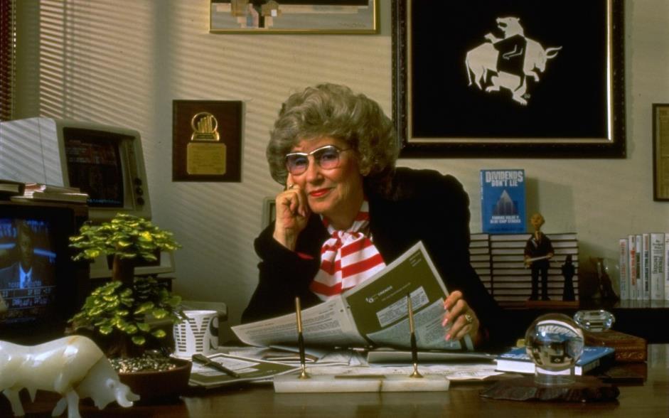 Джеральдин Вайс в своём офисе, конец 1980-х