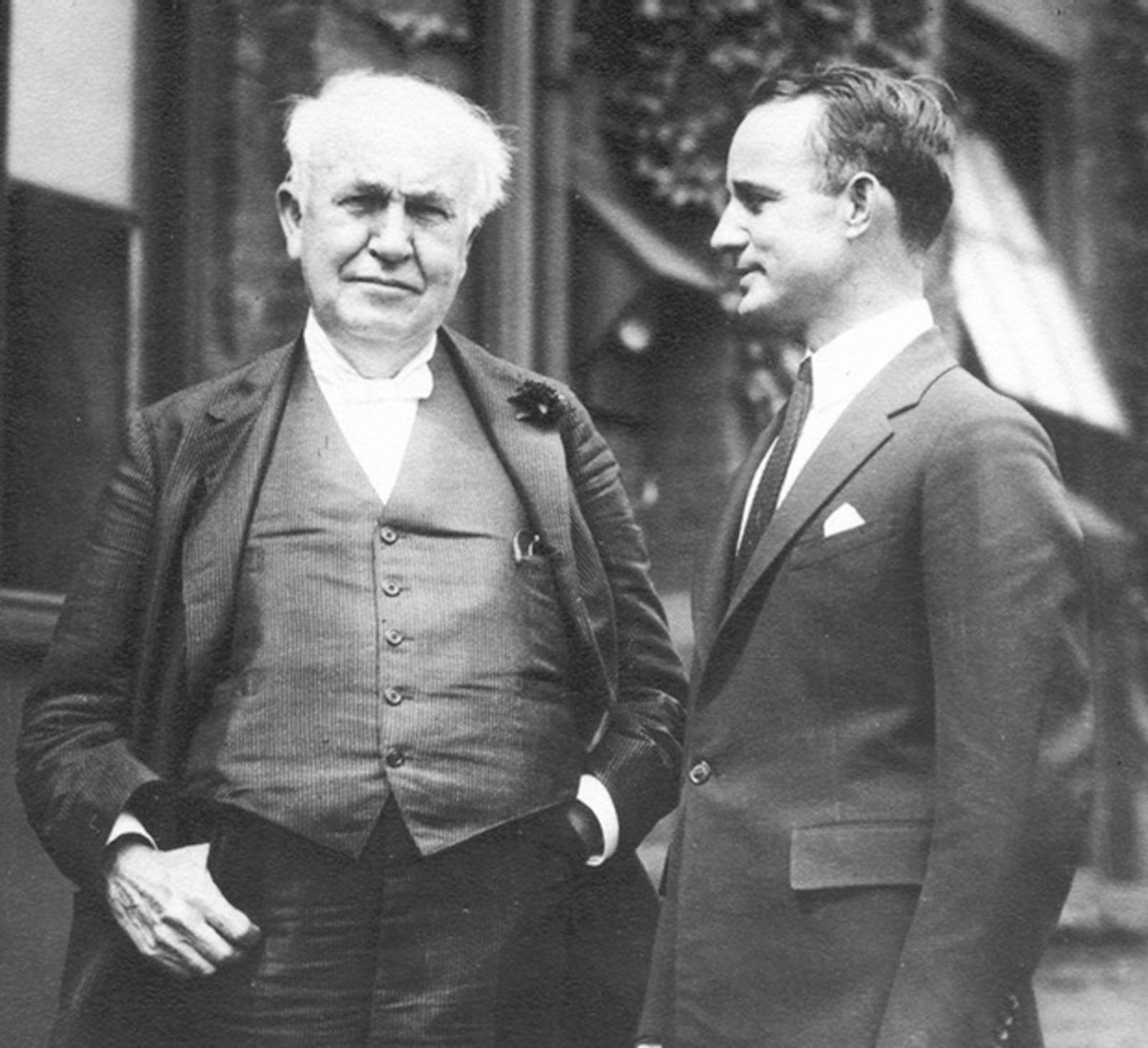 Томас Эдисон и Наполеон Хилл, 1923 год.