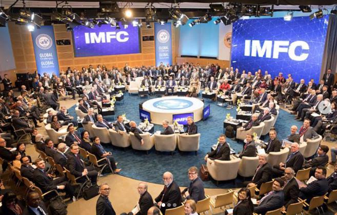 Рис. 1. Ежегодное заседание МВФ, апрель 2018 года