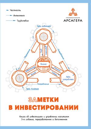Обложка книги УК «Арсагера» «Заметки в инвестировании»