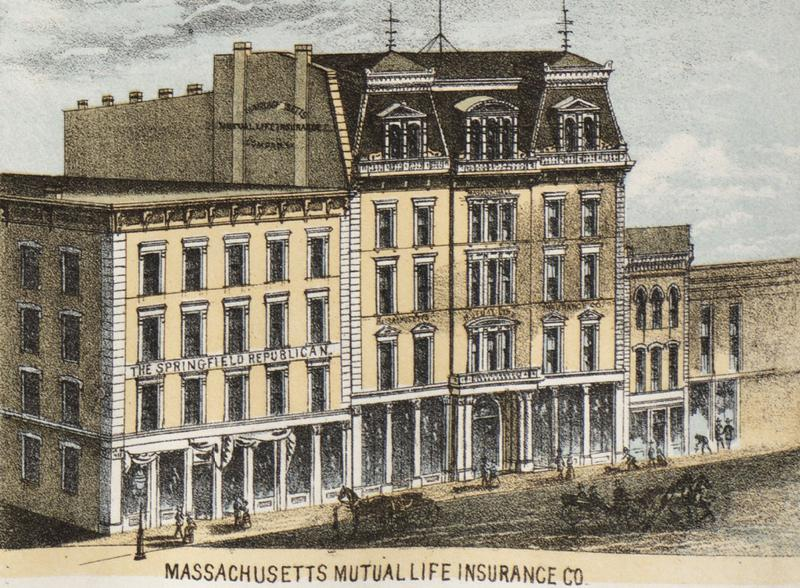 Офис The Springfield Republican, 1875 год