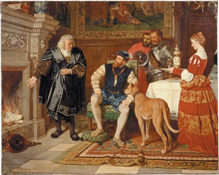 «Якоб Фуггер сжигает векселя в присутствии Карла V», Карл Людвиг Фридрих Беккер 1866 г. Изображение с сайта fugger.de