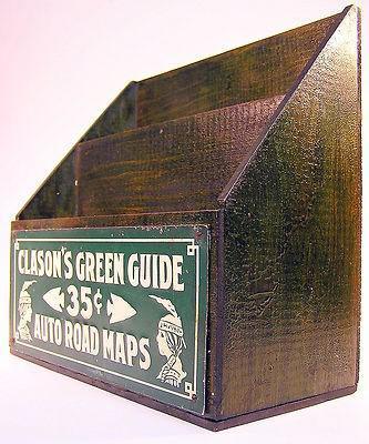 Рекламная стойка для «зелёных гидов», примерно 1930 год