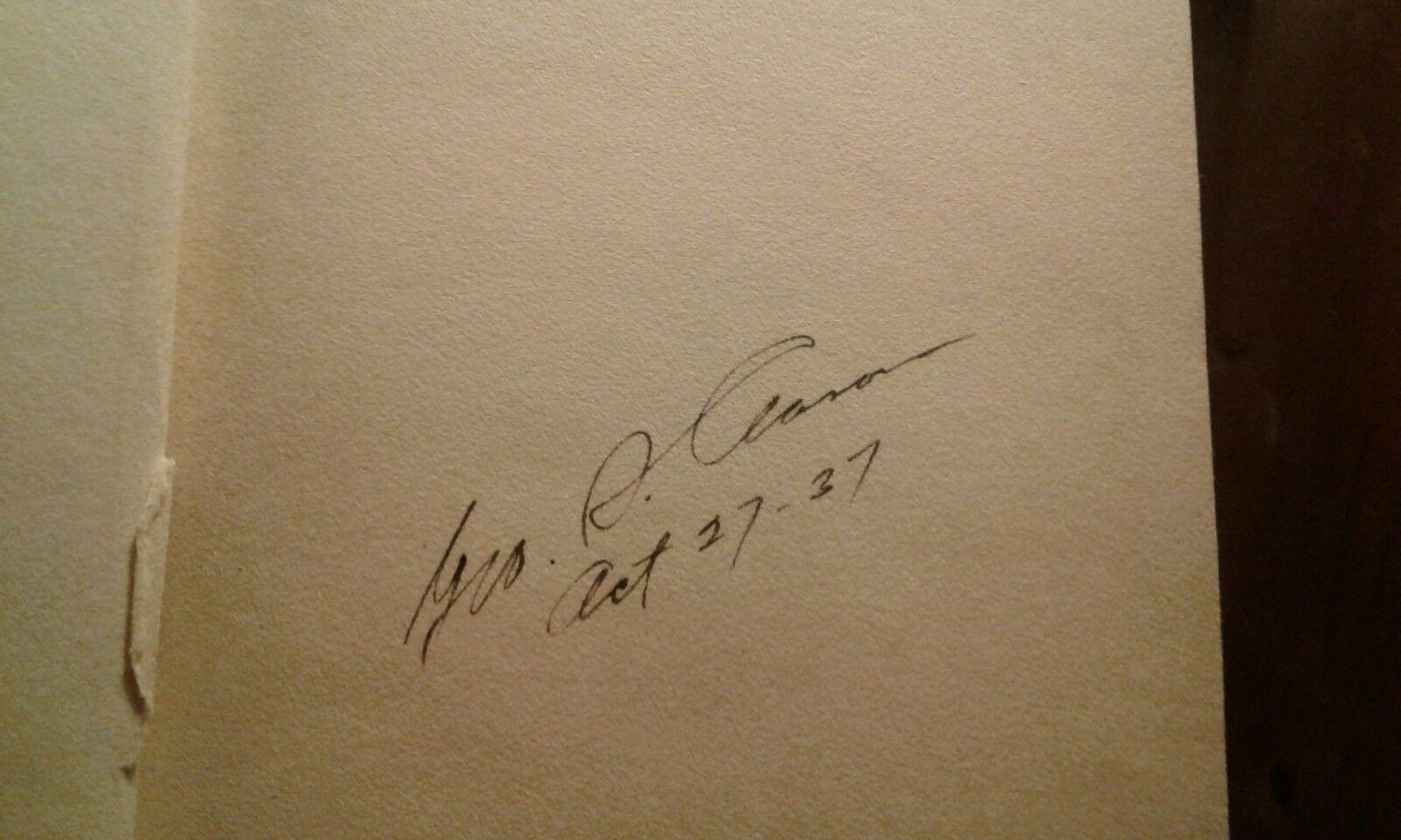 Автограф Джорджа Самюэля Клейсона, 1937 год