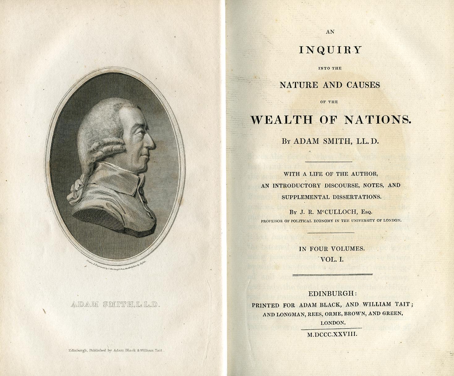 «Исследование о природе и причинах богатства народов», издание 1828 года