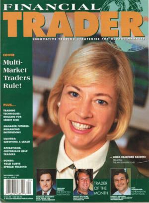 Линда Рашке на обложке журнала Financial Trader. Фото с сайта lindaraschke.net