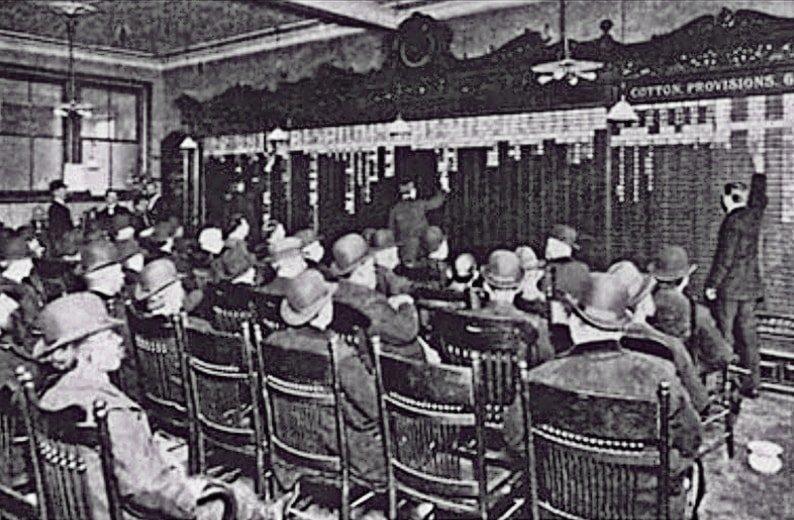 Помещение Бакет-шопа, 1900-е гг. Фото с сайта beyonddebt.net