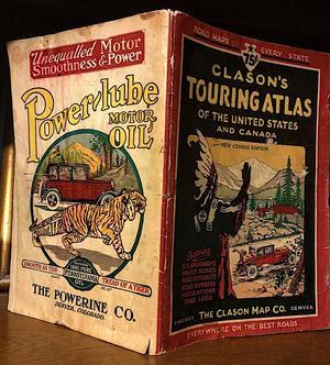 Обложка туристического атласа США и Канады с рекламой моторного масла, 1931 год