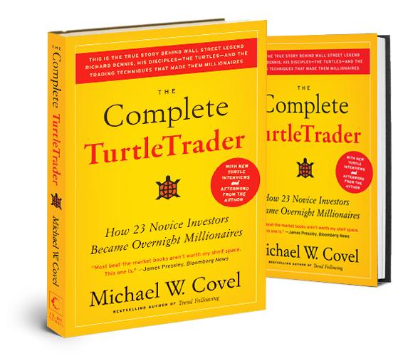 "Обложка книги Майкла Ковела ""The Complete TurtleTrader: How 23 Novice Investors Became Overnight Millionaires"""