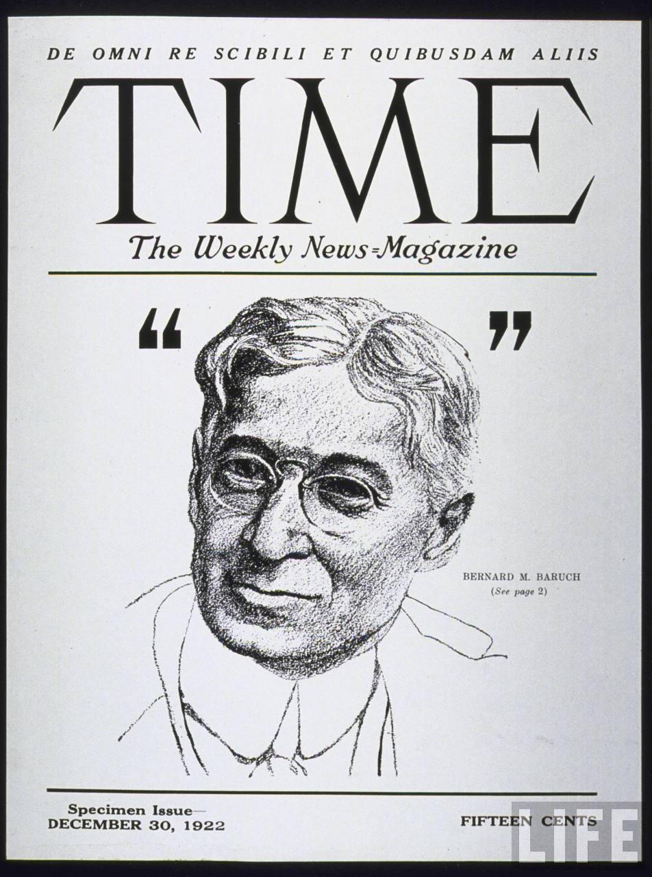 Бернард Барух на обложке журнала TIME, декабрь 1922 г.