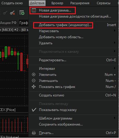 Рис. 12. QUIK 7: настройка торгового терминала для торговли на бирже
