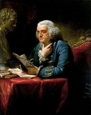 Портрет Бенджамина Франклина. Художник Дэвид Мартин, 1767 год, хранится в Белом доме, Вашингтон.